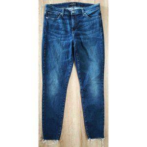Lucky Brand Womens Ava Super Skinny Blue Jeans 12